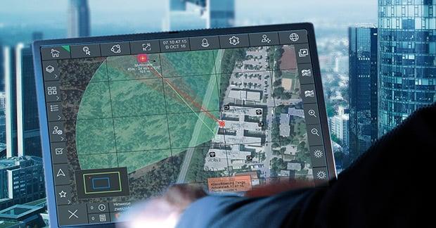 COUNTER DRONE RADAR MAP